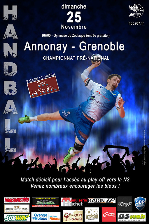 Annonay-Grenoble: le match décisif !